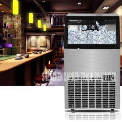 1pc New Arrival 220V-240v / 50HZ 68KG commercial ice machine  Intelligent adjustment ice tea shop Square ice maker