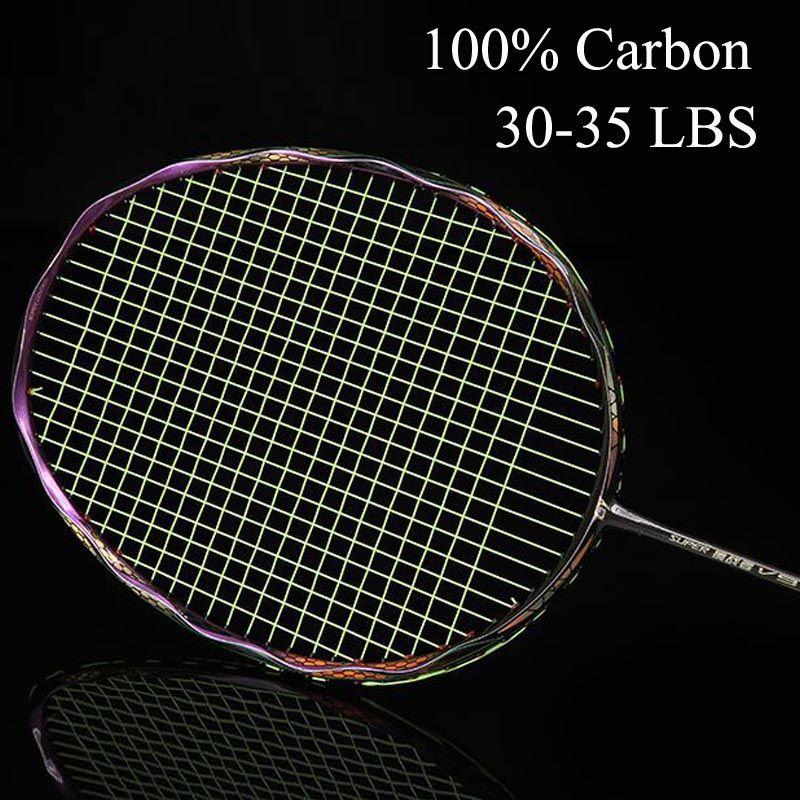 Badminton Racket Carbon Badminton Racquet Sport Set 26-28 LBS