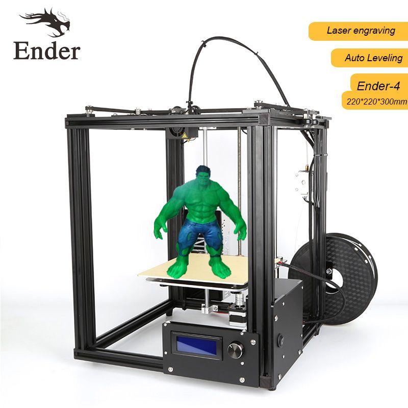 2017 новые Ender-4 3D лазерный принтер, автоматическое выравнивание, нити мониторинга Алар Prusa i3 3D комплект принтера N нити + 8 г SD Card + Инструменты