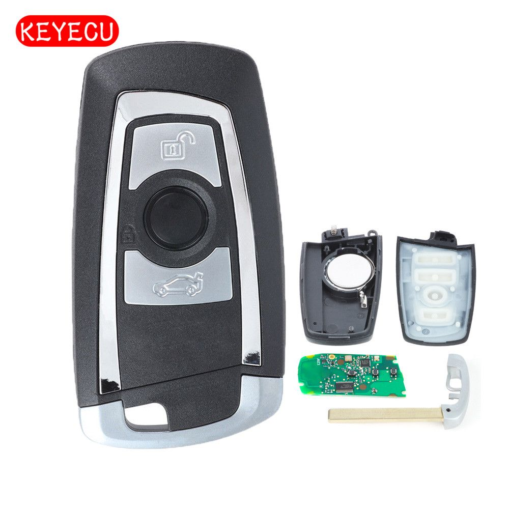 Keyecu Smart Remote Key Fob 3 Button 315MHz/ 433MHz/ 868Mhz PCF7953/49 Chip for BMW FEM / BDC CAS4 CAS4+ 2011-2017