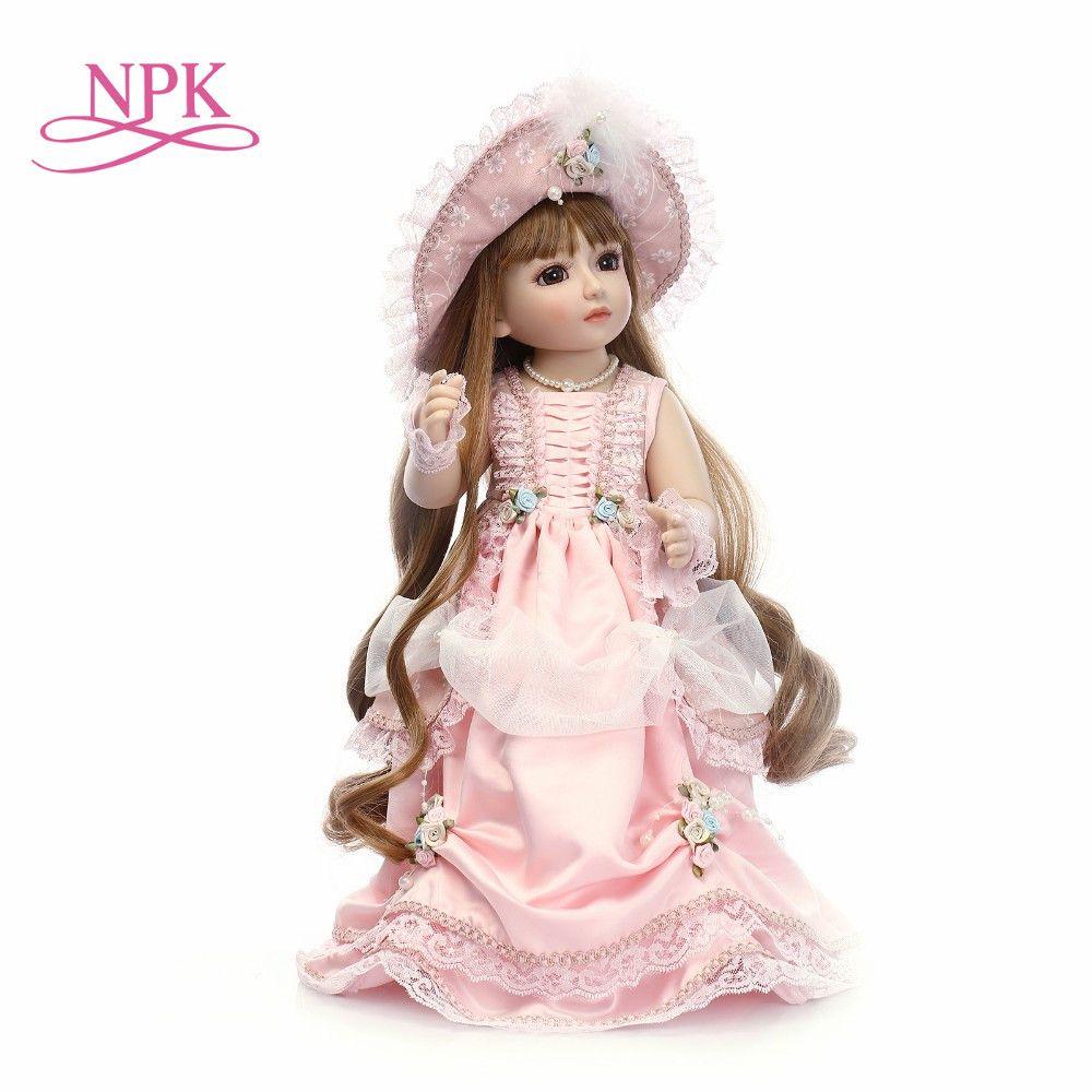 NPK Handmade 18'' Cute Girl Doll Reborn Baby Doll SD/BJD Doll Best Bedtime Playhouse Toy Enducational Toy For Girls As Gift