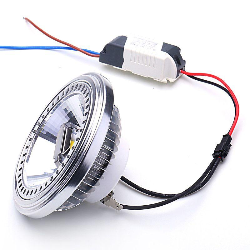 Alliage d'aluminium du projecteur G53 de l'épi AR111 de 15 W LED 85-265 V blanc chaud/froid 30 degrés remplacent l'halogène 100 W pour l'éclairage à la maison d'affaires