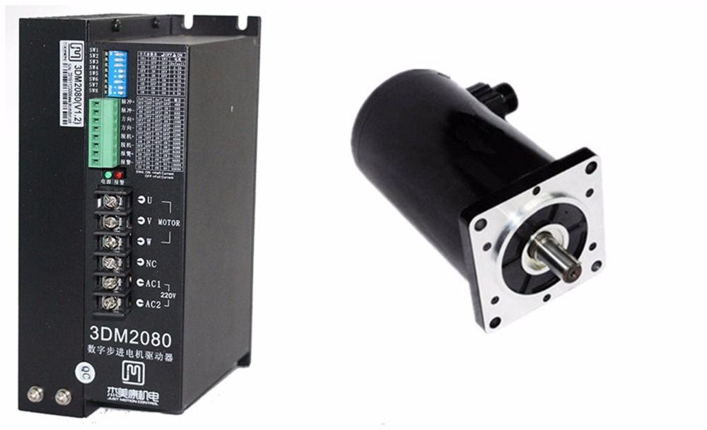 NEMA52 50Nm 7075ozin Hybrid stepper motor driver kit 3phase 80-240VAC for CNC engraving cutting 130J12280-368+3DM2080