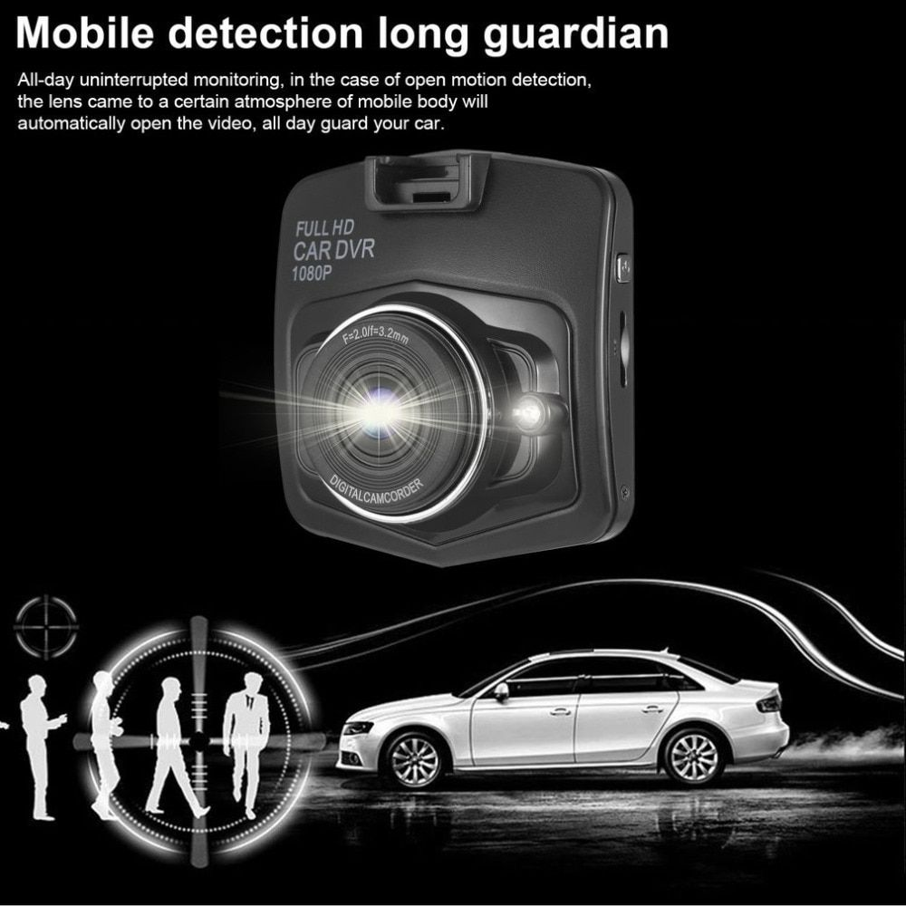 Новые 2.4 дюйма ЖК-дисплей Full HD лобовое стекло/приборной панели Видеорегистраторы для автомобилей 1080 P Цифровая видеокамера Автомобиль Blackbox ...