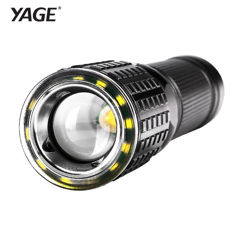 YAGE Flashlight <font><b>Rechargeable</b></font> Cree XML-T6 Lanterna Tactical flashlights USB LED Flashlight 18650 Lampe Touche Linternas Led Lamp