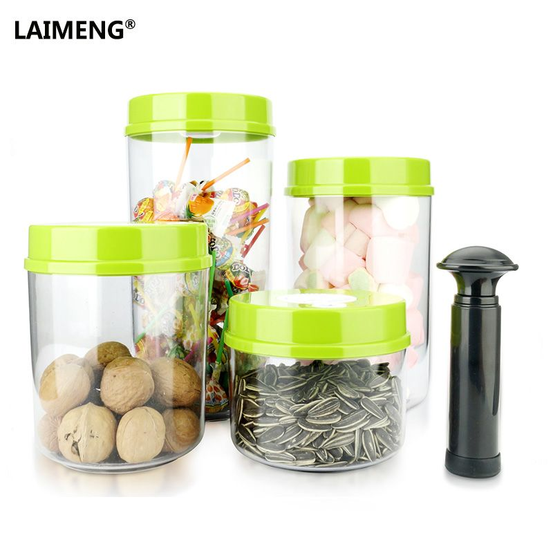 LAIMENG Vacuum Containers Working With Vacuum Food Sealer Packing Machine Best Vacume Canisters Full Set With Pump S172
