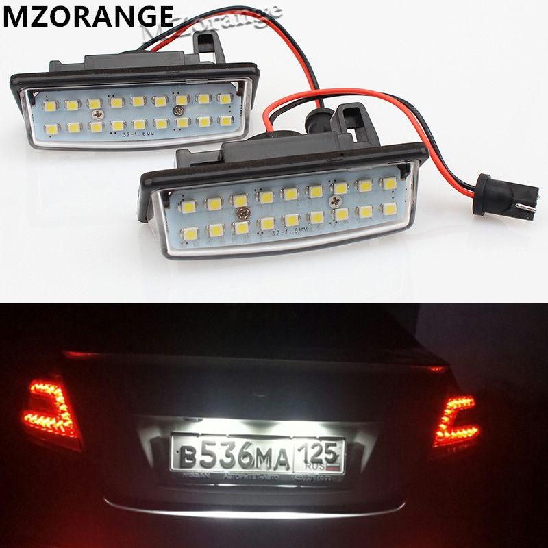 Convient pour Nissan TEANA J31 J32 Maxima Cefiro Altima Rogue Sentra 2x sans erreur 18 3528 SMD LED plaque d'immatriculation lampe voiture lumière