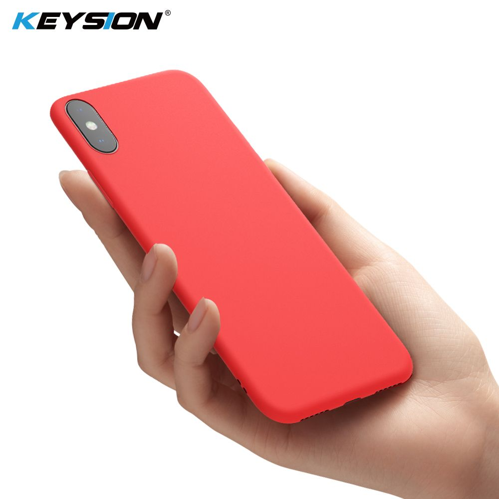 KEYSION Original Thin Liquid Silicone Case for iPhone XR iPhone Xs Max Gel Rubber Phone Cover Protective Case for iPhone X XS R