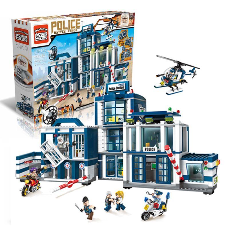 Modèle kits de construction compatible avec lego ville Police Station Hélicoptère 951 pcs 3D blocs Éducatifs jouets passe-temps pour enfants
