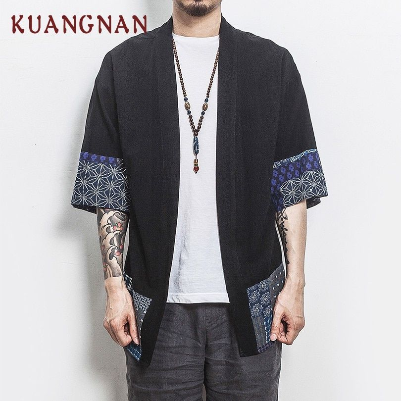 2018 Summer Chinese Style Men Linen Shirt Half Sleeve Camisas Para Hombre Mens Shirts Casual Slim Fit Chemise Homme Man Shirt