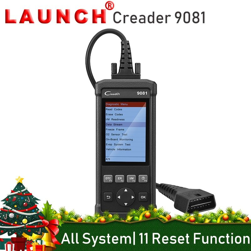 LAUNCH Creader 9081 OBD2 Car Code Reader Automotive Diagnostic Scanner Tool 11 Special Functions TPMS DPF EPB
