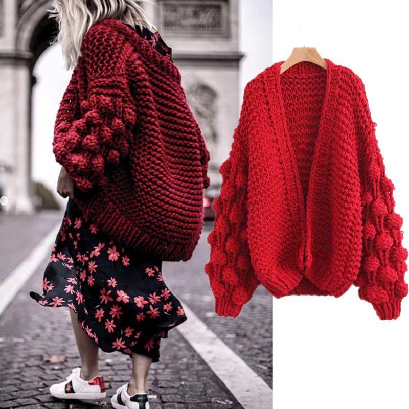 Versuchen Alles 2018 Neue Mode-strickjacke Frauen Frühling Langarm-strickpullover Pullover Frauen Winter 2018 Rot Tops Damen Strickjacken