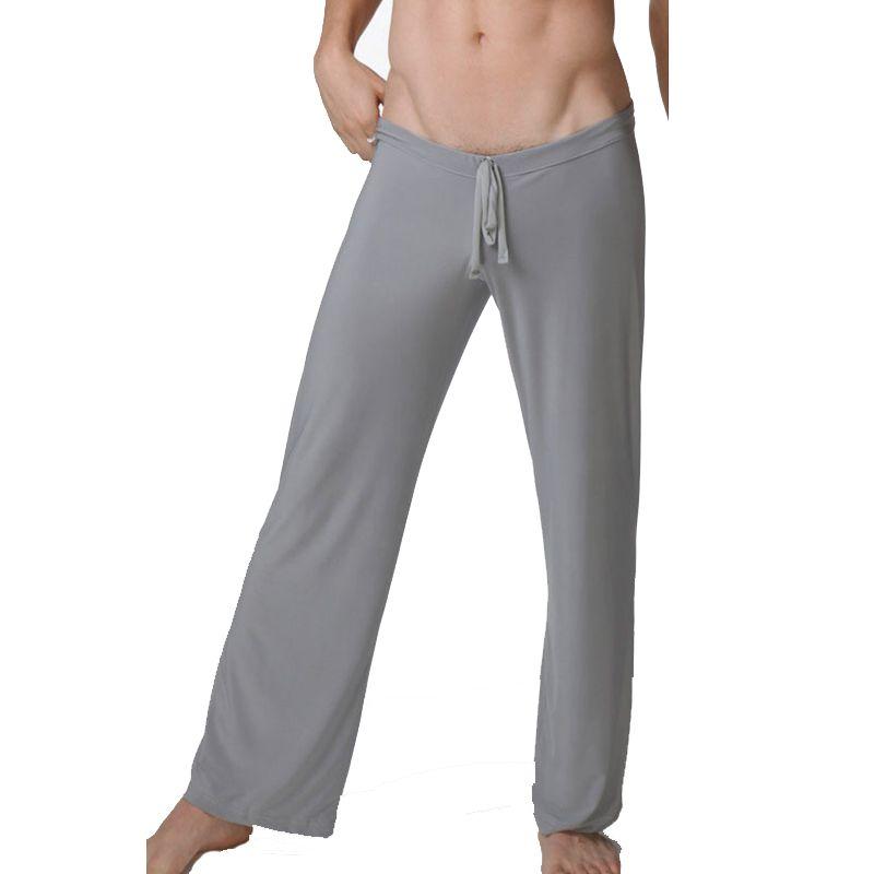 2017 Nuevos Hombres de Pantalones Del Sueño Suave Loose Hombre Pantalones Pantalones de Pijama Ocasionales Respirables Frescas Sueño Bottoms Hombres, WA280