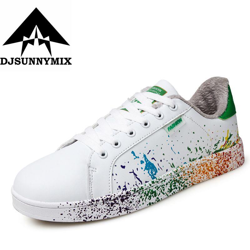 DJSUNNYMIX PLus size 35-46 Unisex Winter Warm Sneaker men Breathable Sports Shoes Jogging Footwear Walking Athletics Shoes
