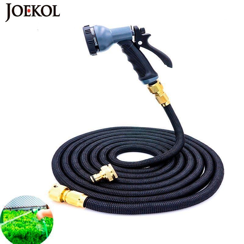 Livraison gratuite 25Ft-200Ft tuyau d'arrosage extensible magique Flexible tuyau d'eau Eu tuyau tuyaux en plastique tuyau avec pistolet d'arrosage à l'arrosage