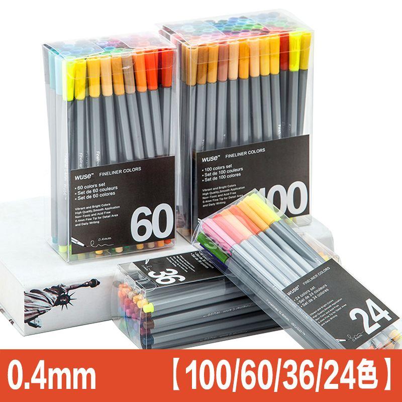 100color Fine Liner Pen Set Micron Sketch Marker Colored 0.4mm Coloring for Manga Art School Needle Drawing Sketch Marker Comics