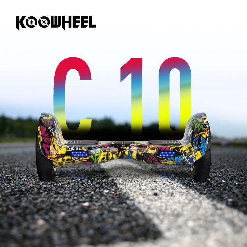 Koowheel 10 zoll 2 Rädern Intelligente Elektrische Hoverboards 4400 mAh Samsuang Batterie Selbst Balance Roller