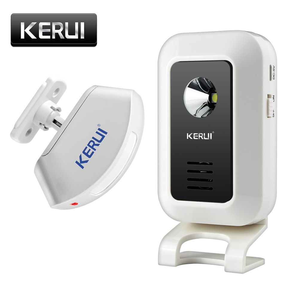 KERUI Wireless Shop Store Welcome Door Entry Chime Smart <font><b>Doorbell</b></font> With Button Curtains Infrared Motion Detector Door Alarm