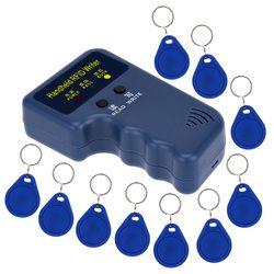 Handheld 125KHz RFID  ID Card Copier Writer Duplicator Programmer Reader Match Writable EM4305 ID Keyfobs Tags Card Key Cards