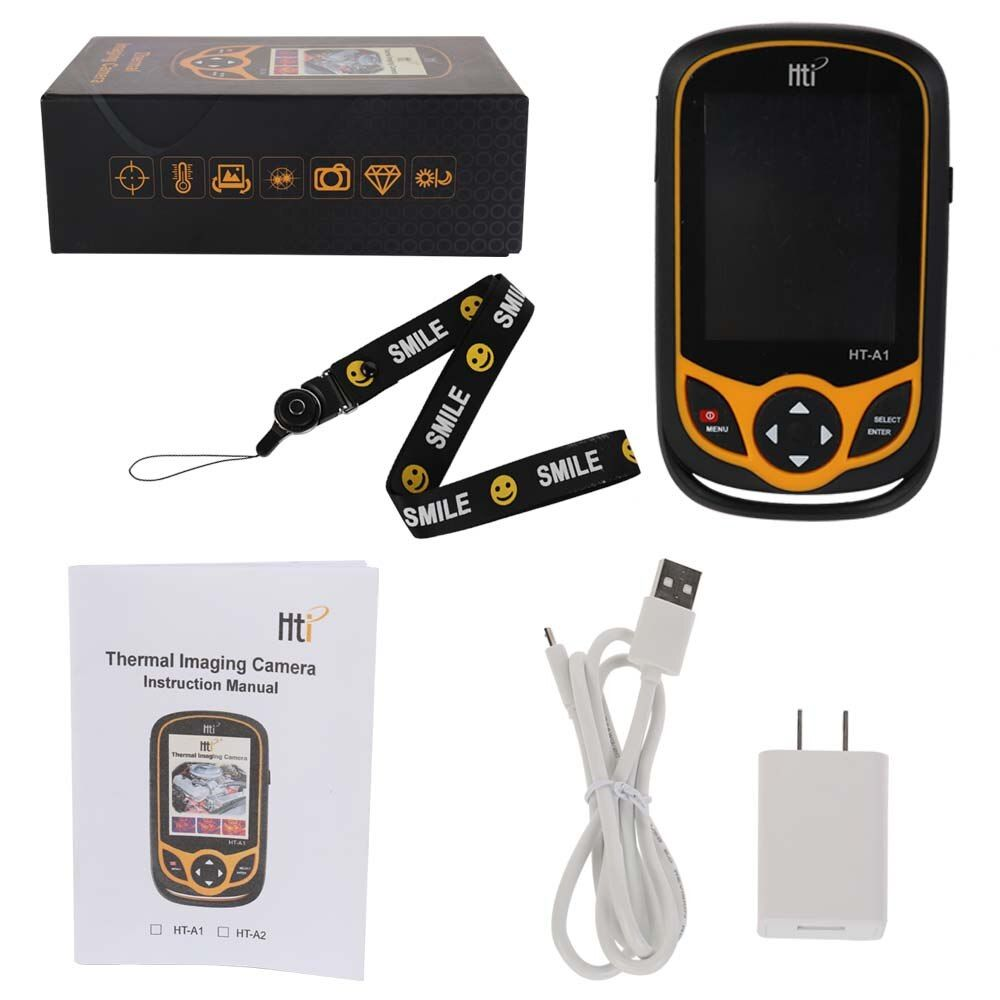 Multifunctional Portable Mobile Phone Type HD Handheld Infrared Thermal Imager with USB Cable and Switching Adapter