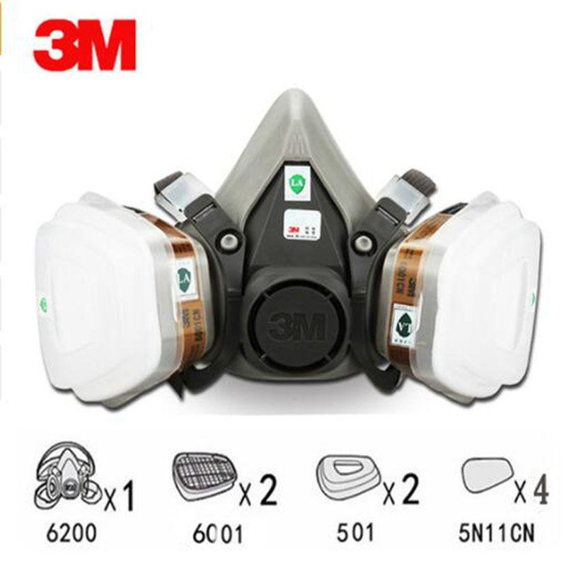 9 en 1 costume demi visage masque à gaz respirateur peinture pulvérisation masque anti-poussière pour 3 M 6200 N95 PM2.5 masque à gaz