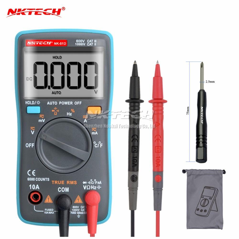 Nk51c VS rm101 диагностический инструмент Цифровой мультиметр 6000 отсчетов Подсветка AC/DC Ом Амперметр multimetro nk51a nk51b nk51d