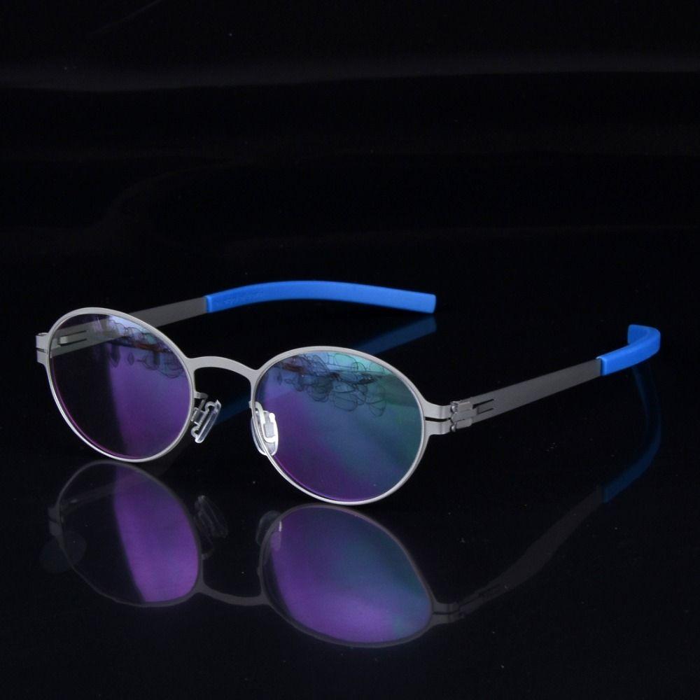 Personnalité créative lunettes de vue cadre hommes sans Scewless lunettes marque myopie lecture léger prescription lunettes