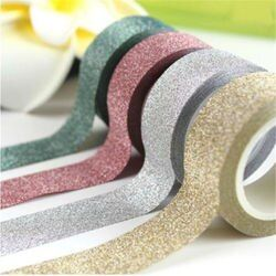 15mm*5m Glitter Washi Tape Set Japanese Stationery Scrapbooking Decorative Tapes  Kawai Adesiva Decorativa