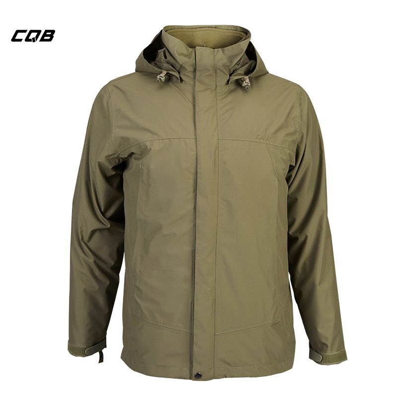 CQB Outdoor Camping Hiking Tactical Military Men's Jacket Winter 2 pieces Hunting Clothes Thermal Waterproof Breathable Overcoat