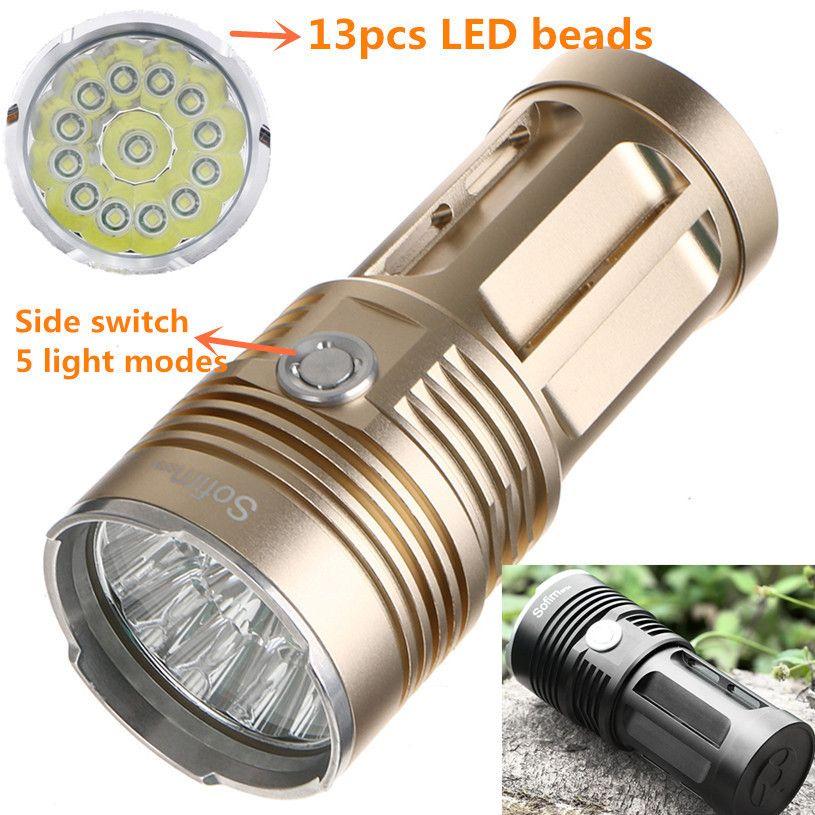 Sofirn SF34 Powerful LED Flashlight High Power Flashlight 18650 Searchlight Torcia torch light lanterna hunt camping Bike light
