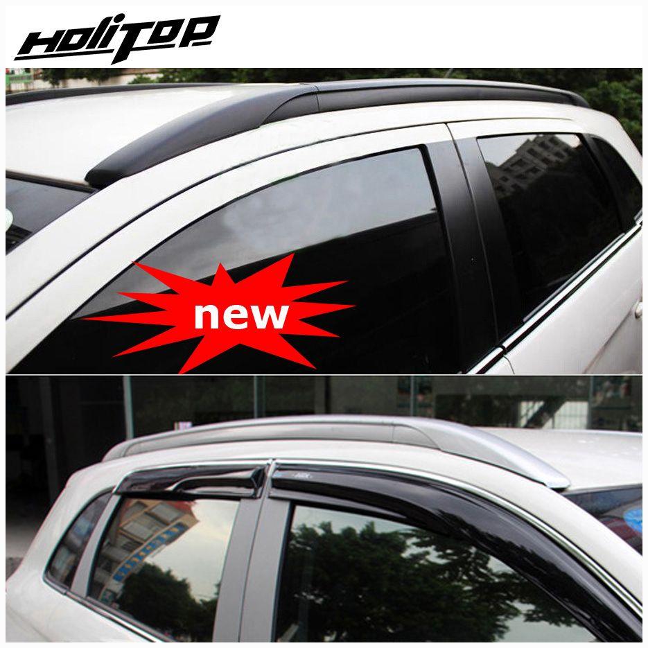 Rail de barres de toit/barre de toit pour Mitsubishi ASX ou RVR 2010-2019, style OE, fixer par des vis au lieu de l'adhésif, alliage d'aluminium + ABS