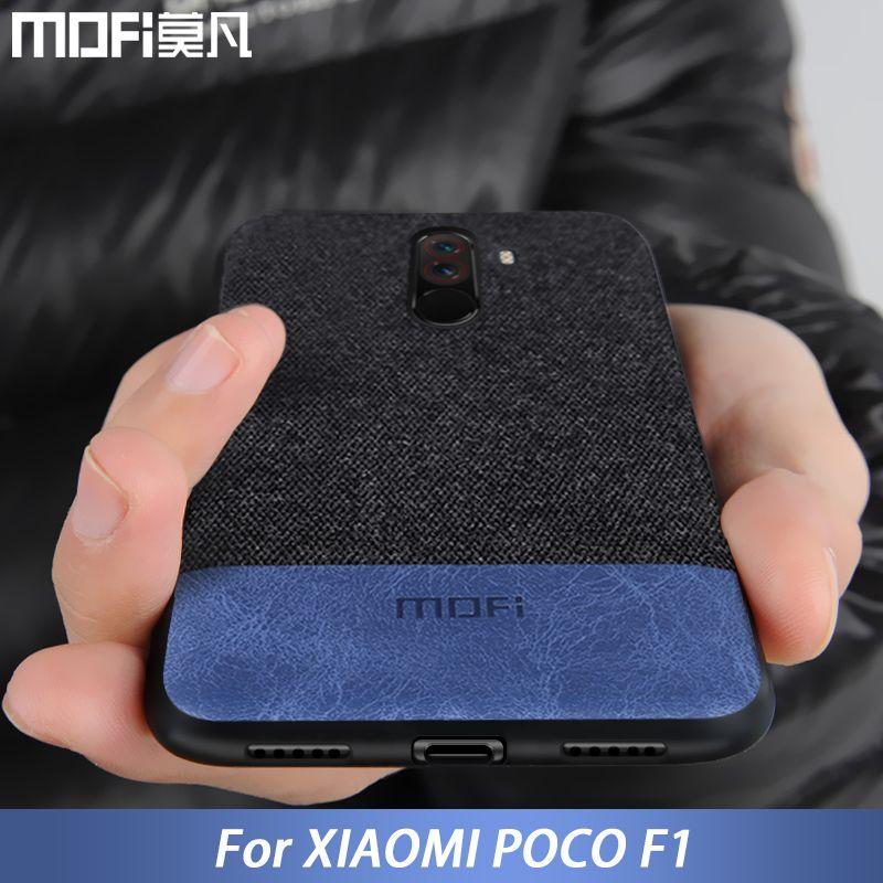 Pour Xiaomi POCOPHONE F1 cas couverture mondiale POCO F1 couverture arrière silicone tissu de protection cas MOFi d'origine POCOPHONE F1 cas