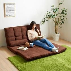 Gaya Jepang Modern Living Room Furniture Lantai Tempat Duduk Dapat Disesuaikan Foldable Berlapis Kain Game Chaise Futon Sofa Kursi