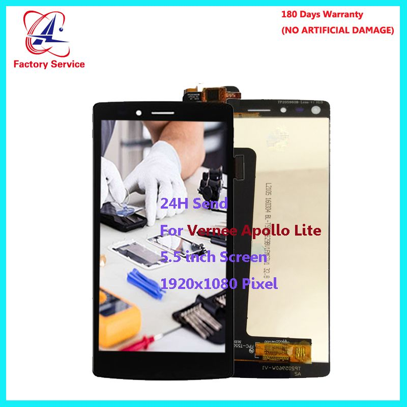For Original Vernee Apollo Lite LCD Display+Touch Screen Screen Digitizer Assembly Replacement 5.5 inch 1920x1080P in Stock