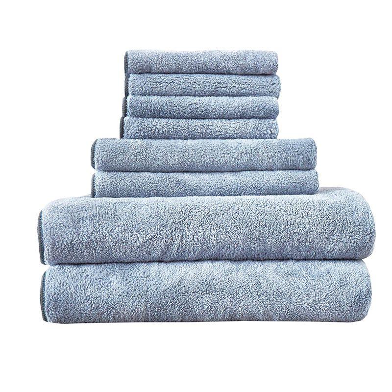 8 pcs Towel Set SPA massage beauty salon Bathtowel Washtowel Handtowel Bathroom Set Water-absorbent Adults Quick-Dry Face Towes