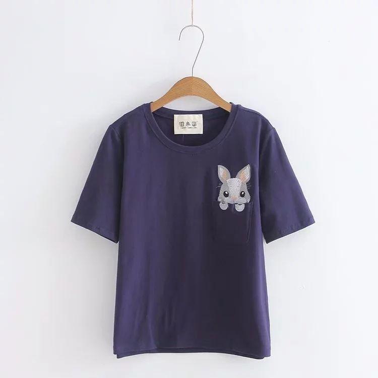 2018 new summer wear T-Shirts short sleeves students' loose fitting thin and regular bottoming shirt