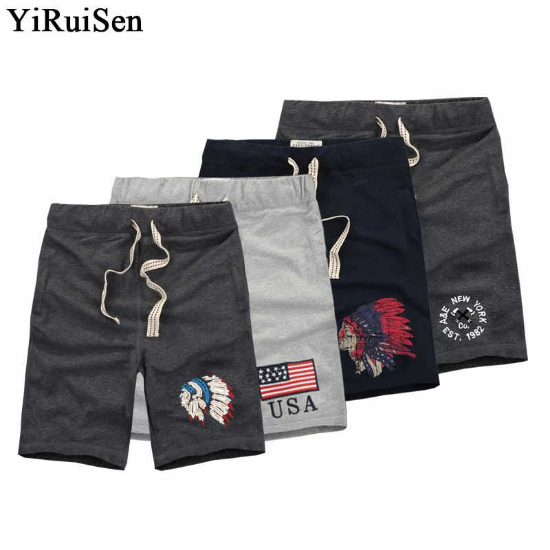 Оптовая продажа S-3XL 100% хлопок yiruisen брендовые шорты Для мужчин Рубашки домашние доска Шорты для женщин Короткие штаны Homme бермуды Masculina