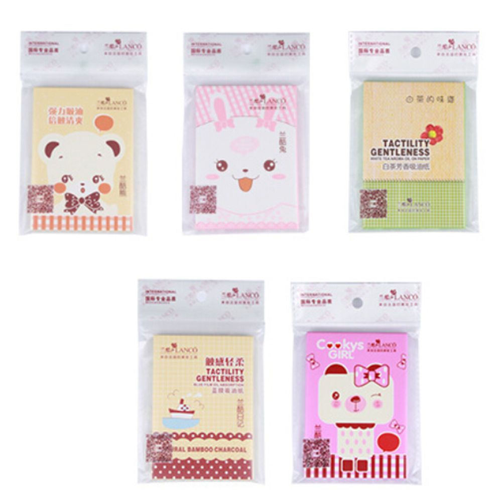 1 Pack Hot Sale Facial Oil Control Absorption Film Tissue Paper Pulp Makeup Blotting Paper Random style Wholesale