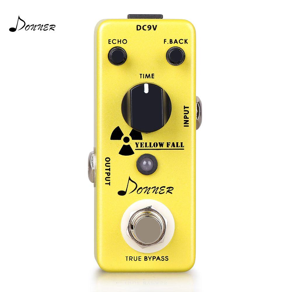Donner retard pédale guitare électrique effet pédale analogie Circuit retard True dérivation jaune chute Mini pédale accessoires guitare