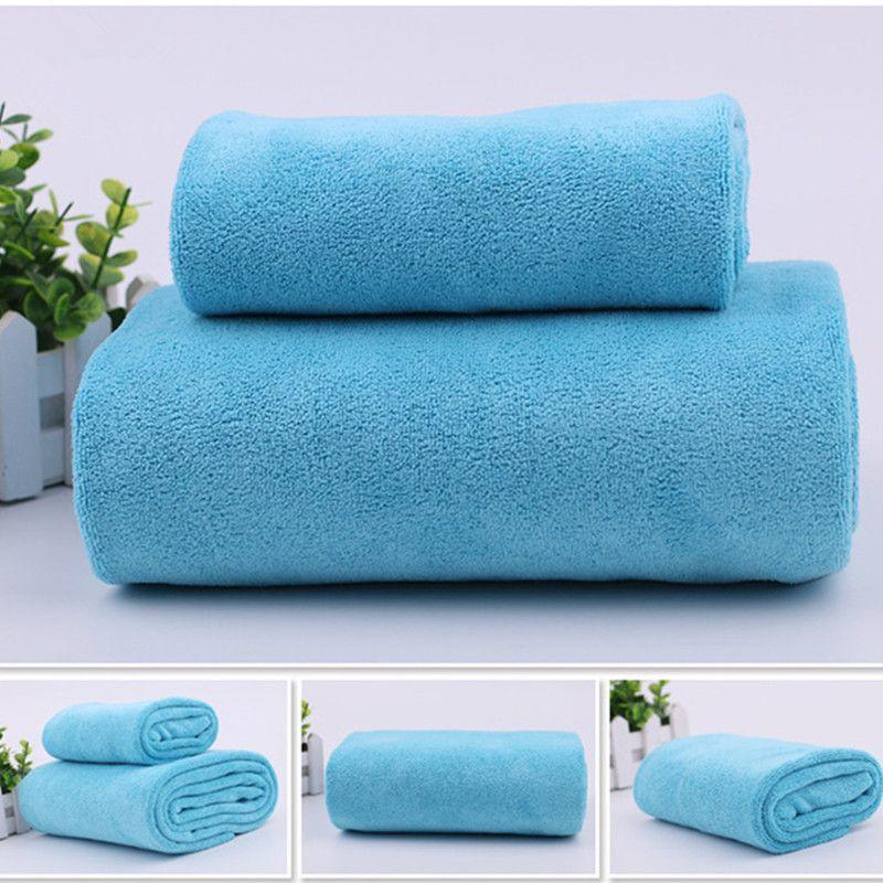 1 Pcs De Luxe En Microfibre Absorbant Débarbouillette + Bain Towel Camping Voyage plage towel hôtel gym Sport Gant De Toilette tissu Serviette