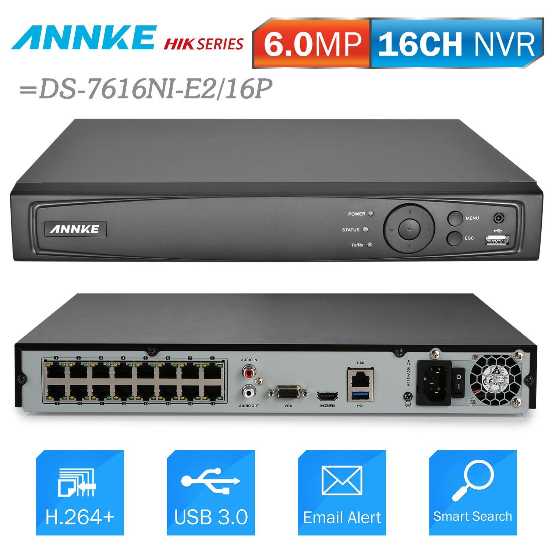 ANNKE 16CH 6MP POE NVR Netzwerk Video Recorder DVR Für POE IP Kamera P2P Wolke Funktion Stecker Und Spielen = NIK DS-7616NI-E2/16 p
