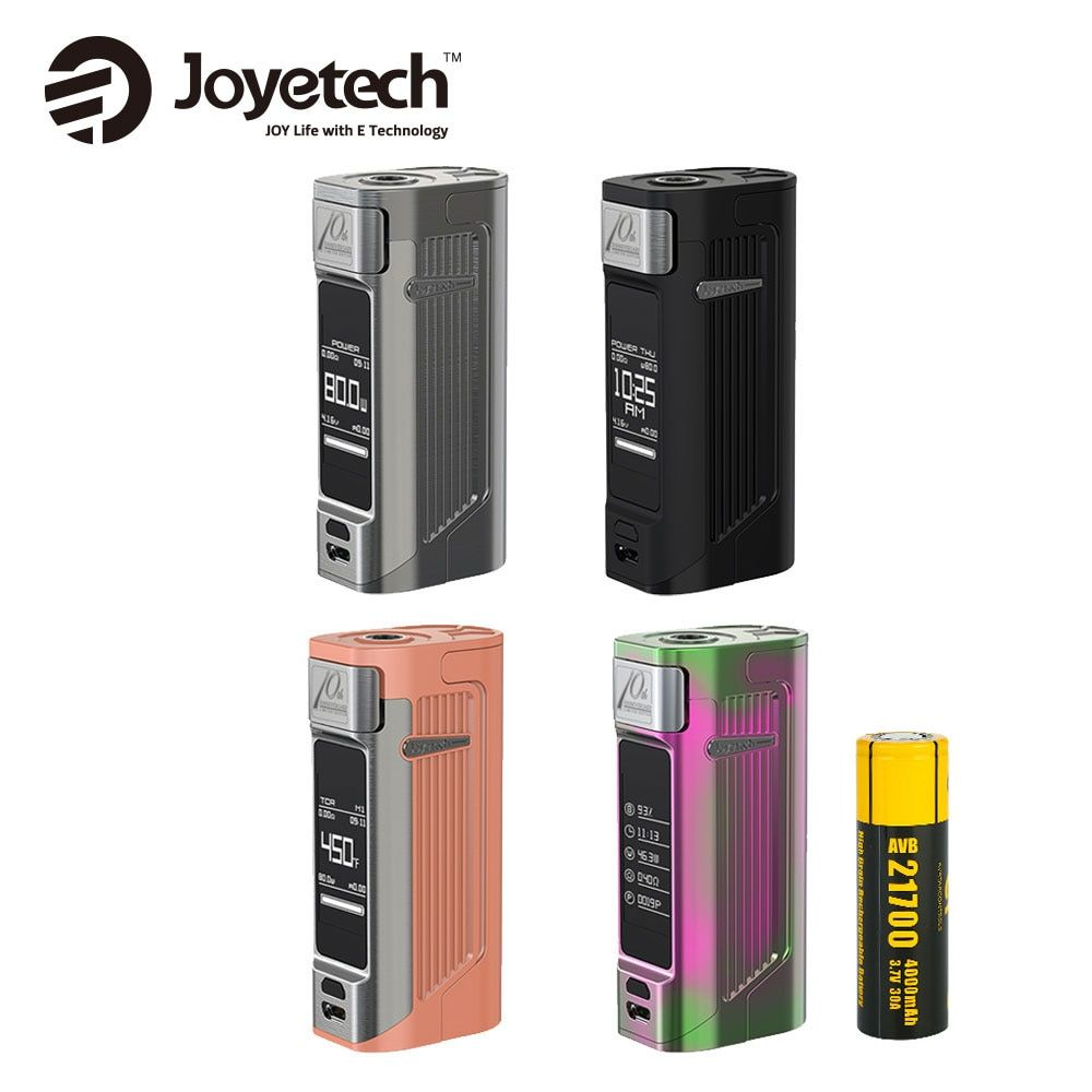 Original Joyetech ESPION Solo 21700 MOD 80 Watt Ausgangsleistung Durch 21700 4000 mAh Batterie 1,3 Zoll OLED Touchscreen E cig Vape Box Mod