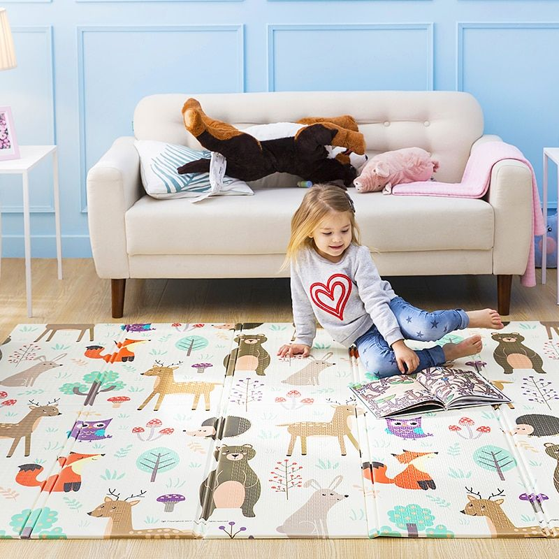 Infant Shining Baby <font><b>Play</b></font> Mat Xpe Puzzle Children's Mat Thickened Tapete Infantil Baby Room Crawling Pad Folding Mat Baby Carpet