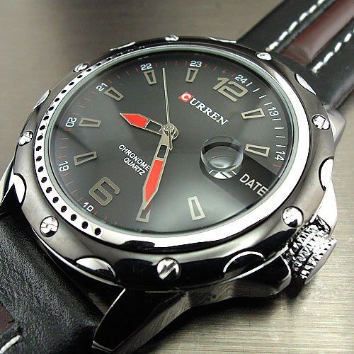 Top Luxury Brand CURREN Watches Men Fashion Casual Quartz <font><b>Hour</b></font> Date Clock Leather Strap Man Sports Wristwatch Relogio Masculino