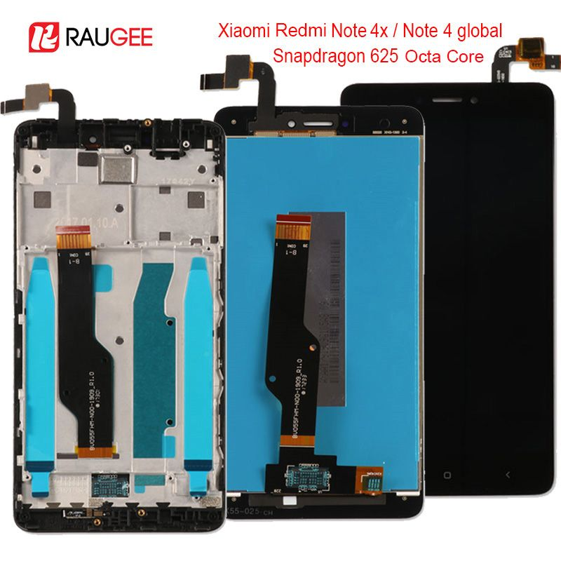 For Xiaomi Redmi Note 4X/4 Global LCD Display Touch Screen replacement for Xiaomi Redmi Note 4 Snapdragon 625 Octa Core 5.5''