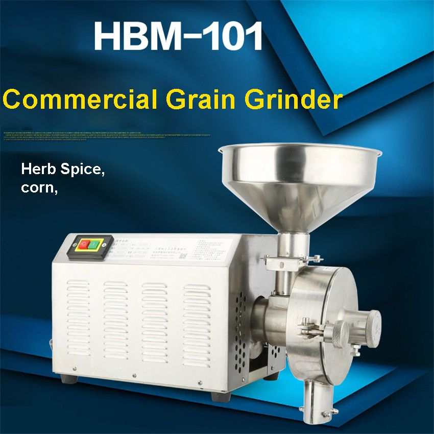 High efficiency commercial Grain Grinder,stainless steelgrinding machine for spices/corn/soybean 20-40KG/h 1420r-min 2500W
