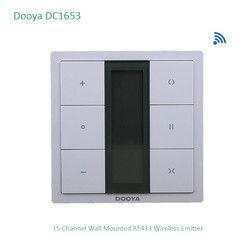 Dooya DC1653 interrupteur mural, 15 Canal Émetteur À Distance Contrôleur pour Électrique Moteur De Rideau, Rideau Accessoires, pour KT320E/DT52E