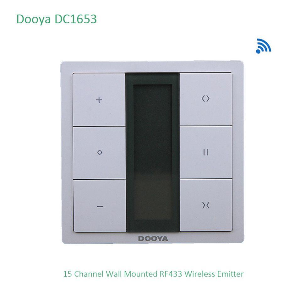 Dooya DC1653 wandschalter, 15 Kanal Emitter Fernbedienung für Elektrische Vorhang Motor, Vorhang Zubehör, für KT320E/DT52E