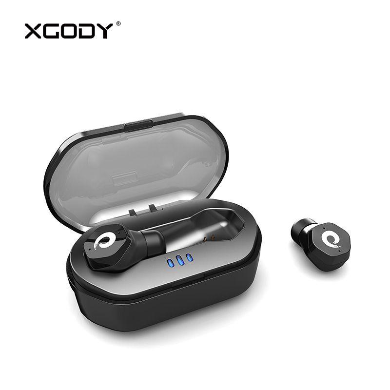 Bluetooth V5.0 Touch Control Waterproof Wireless Earphone with Mic XGODY F8 Handsfree Earbuds Earpods Earphone for Phone Headset