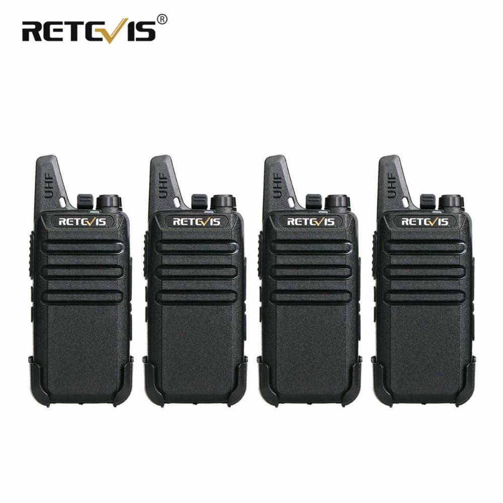 4 pcs Retevis RT22 Mini Walkie Talkie <font><b>Radio</b></font> 2W UHF VOX USB Charge Rechargeable Two Way <font><b>Radio</b></font> Station Walkie-Talkie Transceiver
